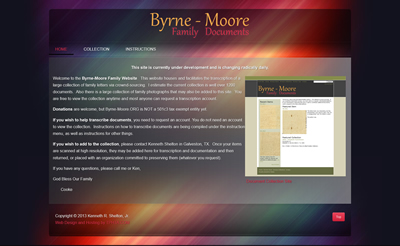 Byrne-Moore Document Site - Front